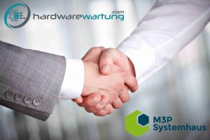 Image of handshaking of business partners Hardwarewartung.com and M3P